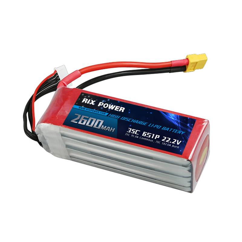 Rix Power RC Lipo Battery 2600mah 35c 6s