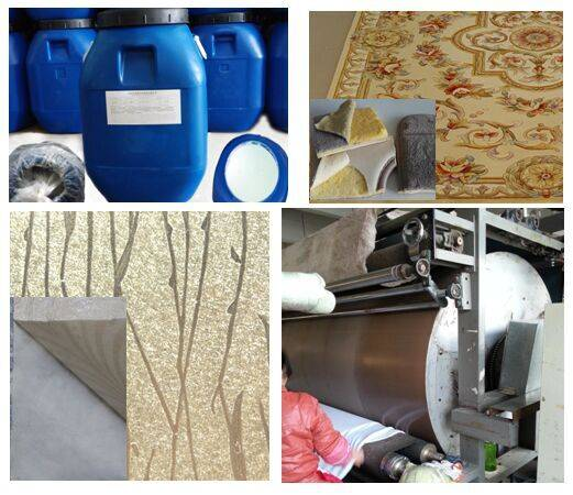 Hot Laminating White Liquid Glue for Carpet Mat fabric sponge material