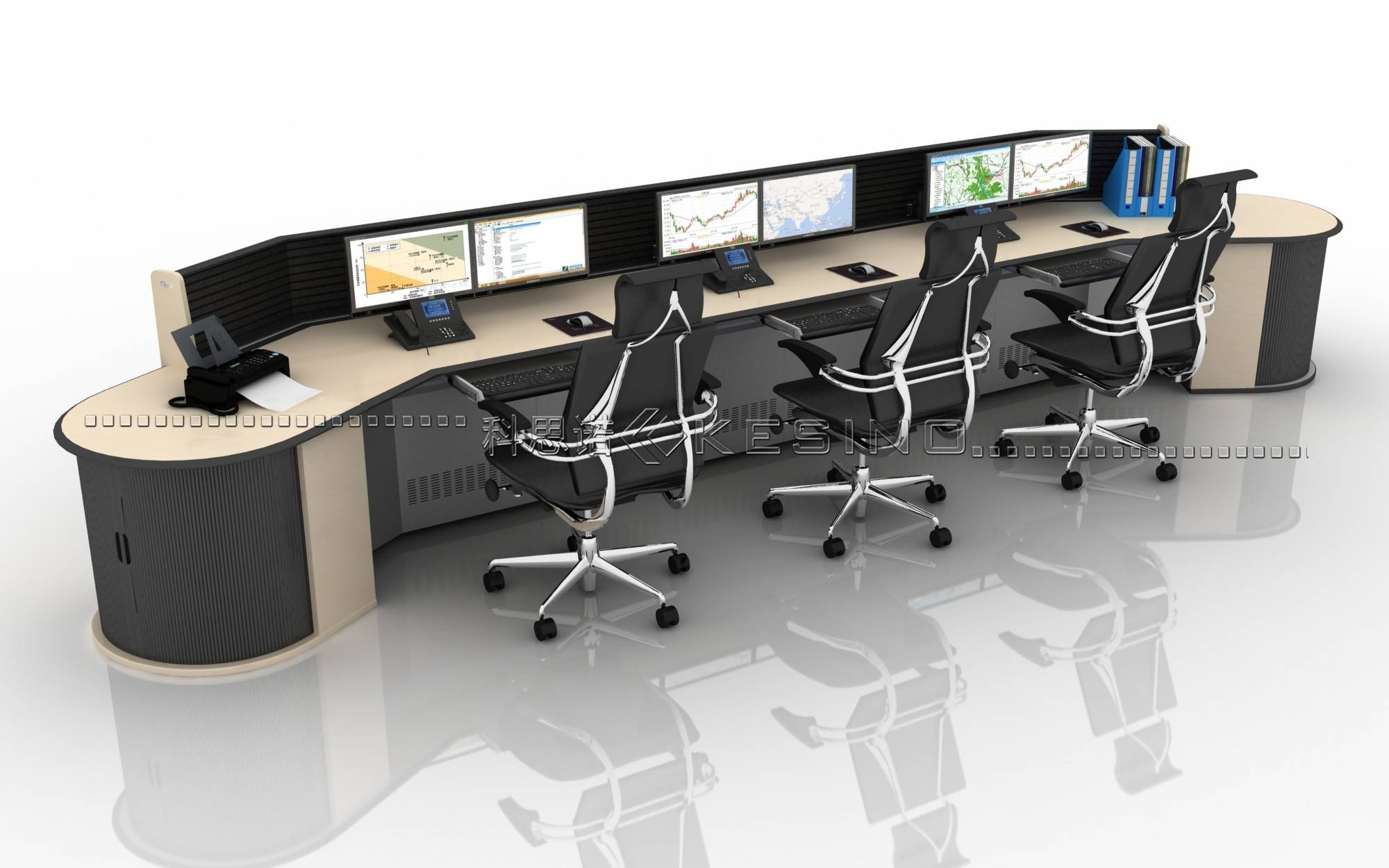 control room console for power dispatching,commercial  Furniture