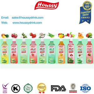 Houssy mango flavored aloe vera drinks