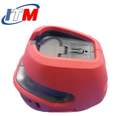 Automotive 2K lens rotary mould with 2 injection nozzles, double color mold and manufacture with DFM
