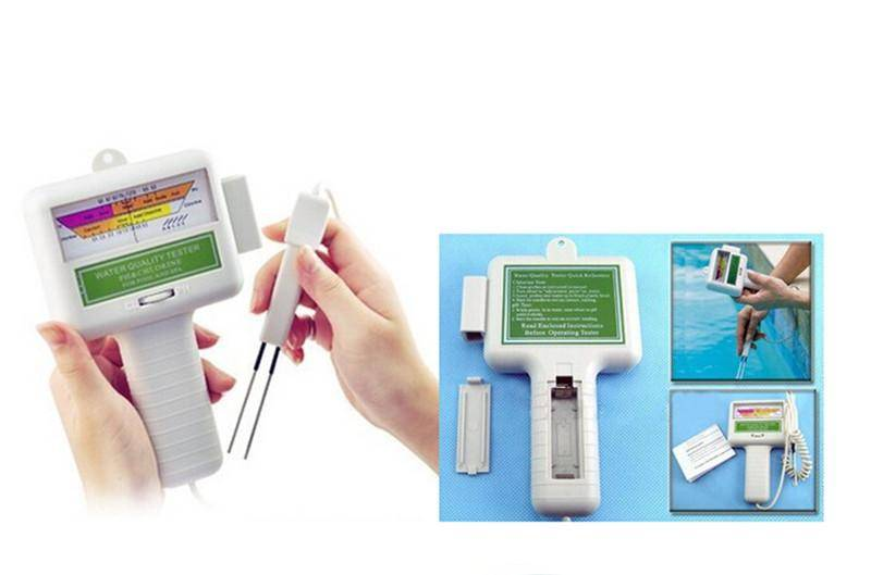 Water Tester Monitoring Water Quality Testing Portable Water Quality PH/CL2 Chlorine Tester Level Me