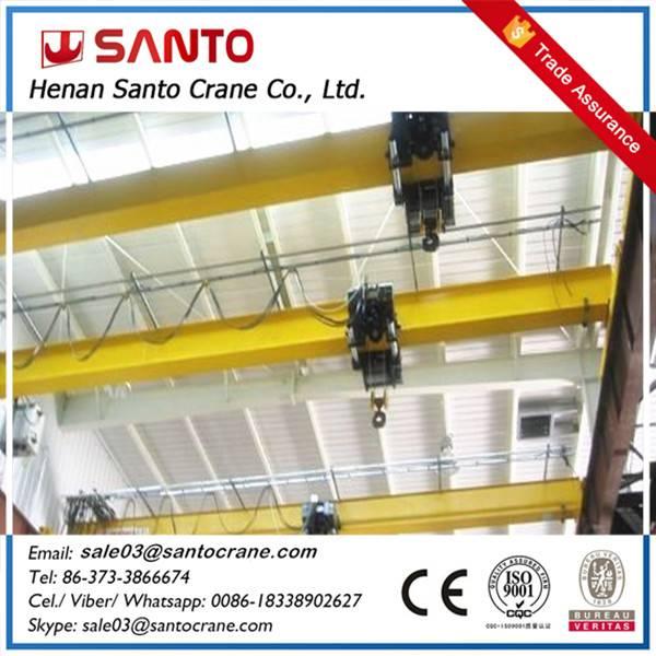 1,2,3,5,10,20 ton lda used eot single girder overhead bridge hoist mobile crane machine for sale at