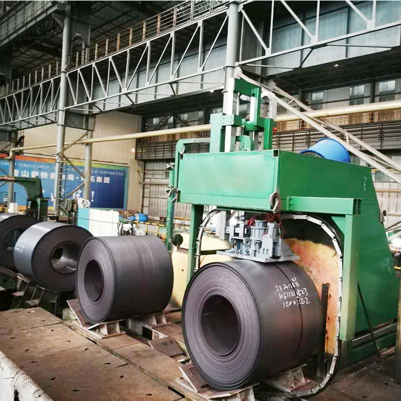 Sealless Joint Automatic Steel Strapping Equipment For Hot Rolled Coil Strapping
