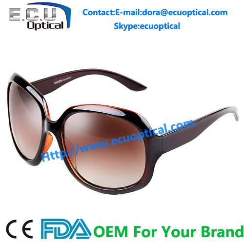 Fashion girls fancy steel famous italian brand name sunglasses