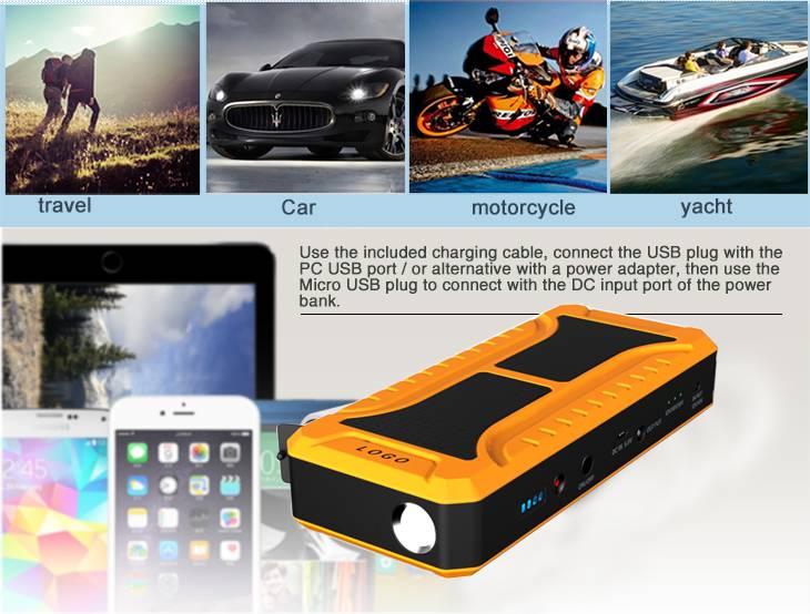 12V 20000 mAh Mini Car Jump Starter Multifunction Battery Charger Power Bank