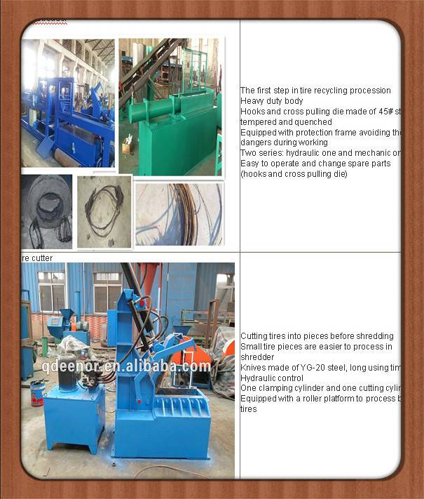used tyre drawing machine