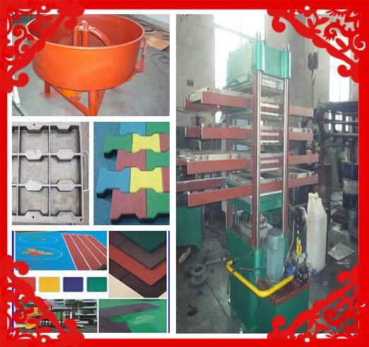 Rubber plate vulcanizing press