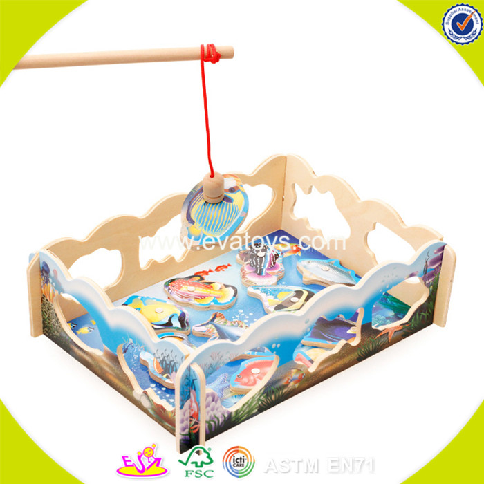 2017 New products baby wooden fishing games funny kids wooden fishing games best children