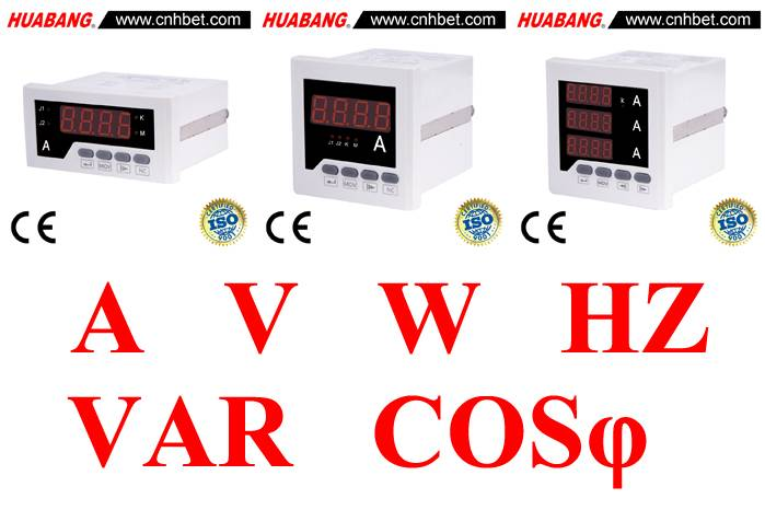 Single Function I/U/Hz/kW/COS/kVarh/kWh Panel Meter