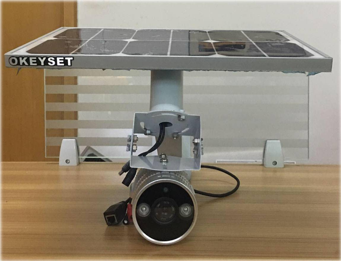 OKEYSET solar power wireless Full calor camera