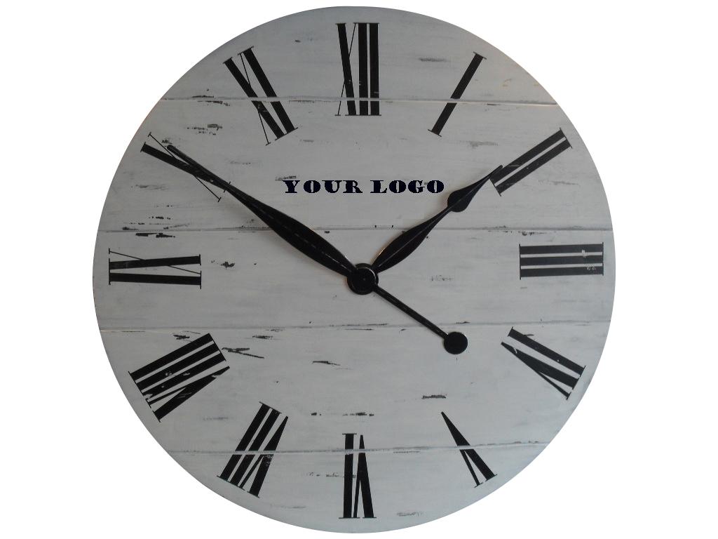"""36"""" MDF vintage wall clock with veneer coating"""