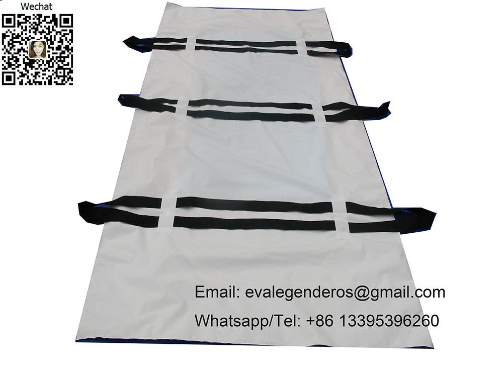 Biodegradable Heavy Duty PEVA Body Bag 6 Handles
