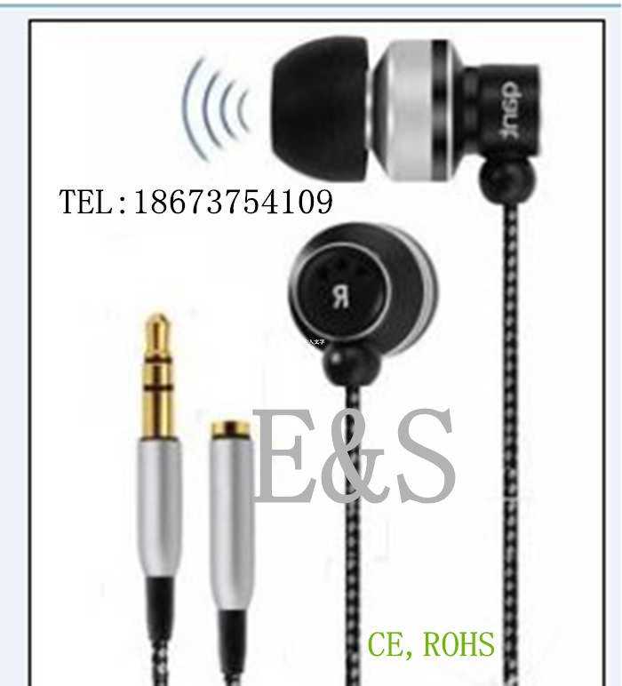 Made in China High quality braided cable earphone with mic