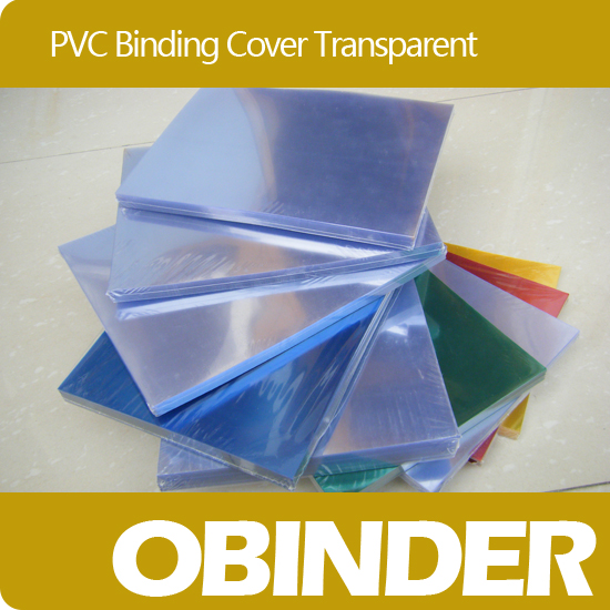 Obinder Book Plastic Binding Cover Transparent Color