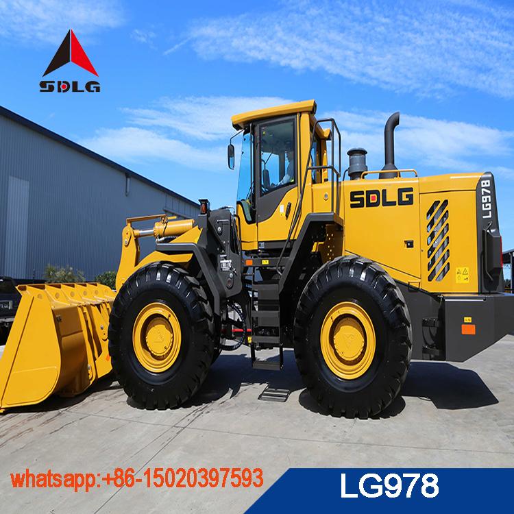 SDLG 7T biger wheel loader LG978 for sale,best quality 978 loader for sale