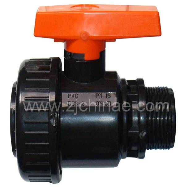 pvc male female single union ball valve agriculture