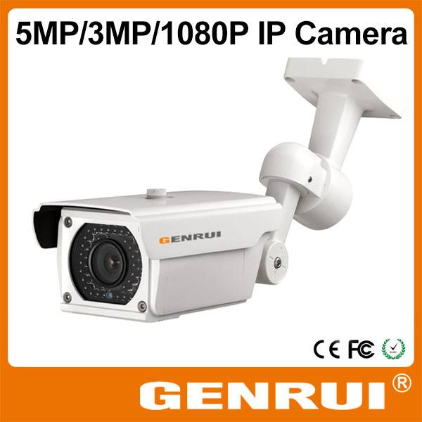 GENRUI ONVIF 5 Megapixel IP Camera,Outdoor IP Camera with POE,WiFi