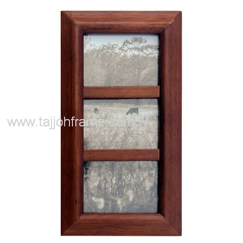 High Quality 3-Aperture Multiple view Wooden Photo Frame
