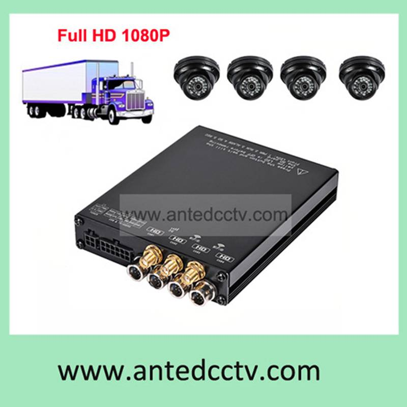 4ch Mobile DVR Recorder for cars bus vehicles video surveillance system