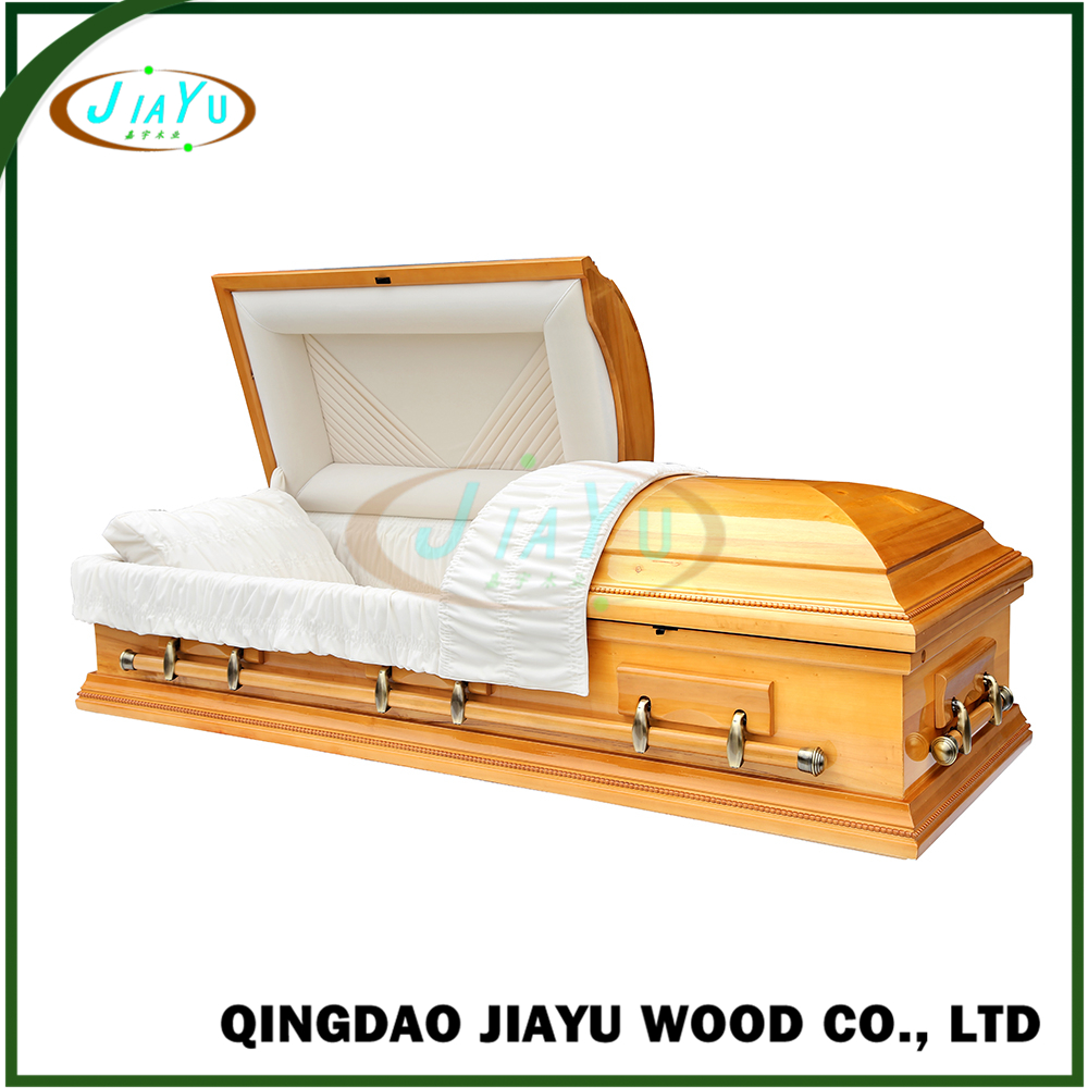 Perfect factory direct grave markers eco-friendly solid poplar wooden casket