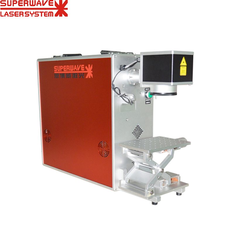 High Precision 50w 30w 20w Fiber Laser Marking Machine For Metal