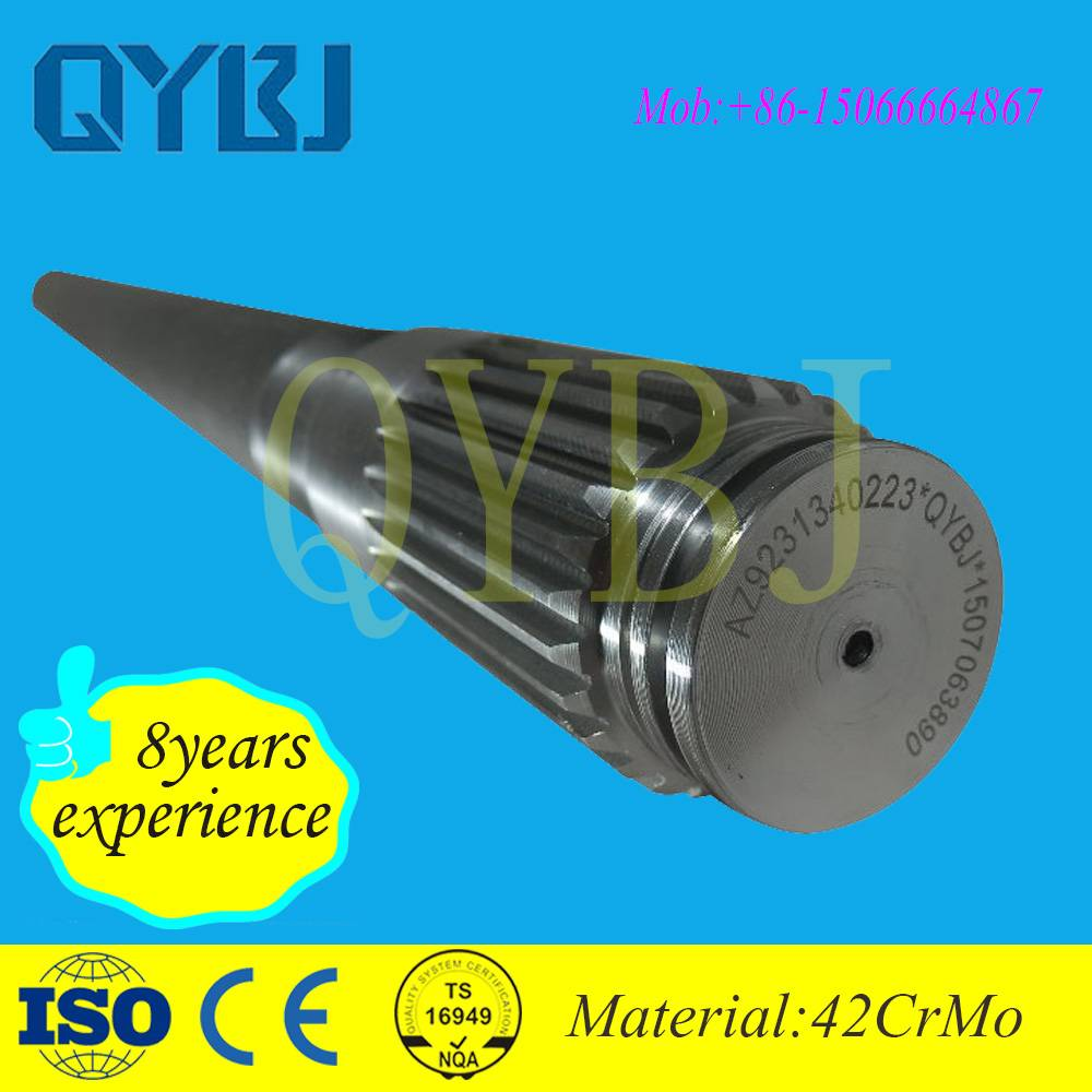 Reliable auto spare parts supplier OEM factory steel howo spline shaft