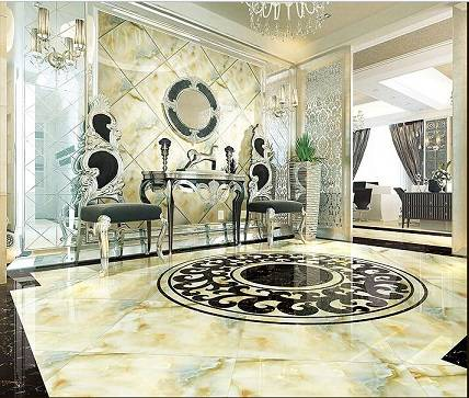 Ceramic Tiles with Onyx Look