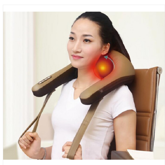 High quality electric kneading massage shawl for neck shoulder waist