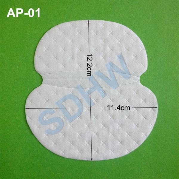 Unisex disposable underarm sweat absorbent pads