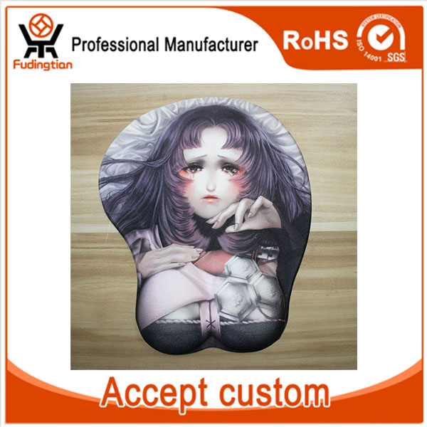 3D Anime Sexy Breast Girl Silicone Mouse Pad with Wrist Rest