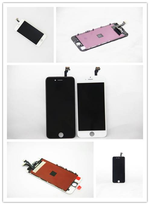 For Apple iPhone 6 LCD Screen and Digitizer Assembly with Frame - Black/White