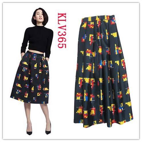 Women Fashion Designer Floral Printed Long Skirt