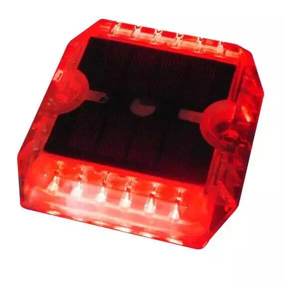 12pcs high brightness LED crystal PC plastic solar road stud