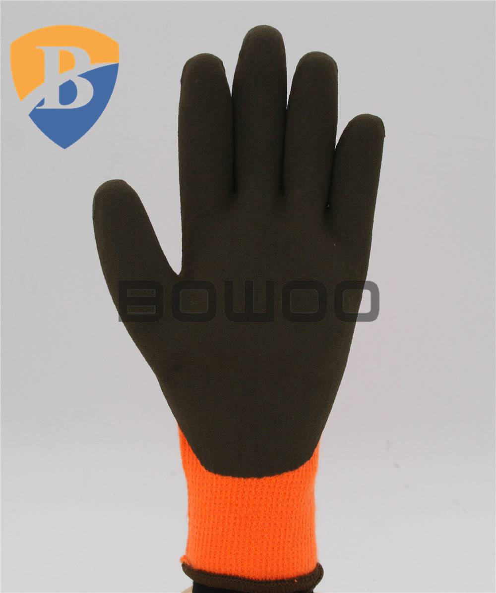 Excellent sandy Latex coated hand protection glove safey glove
