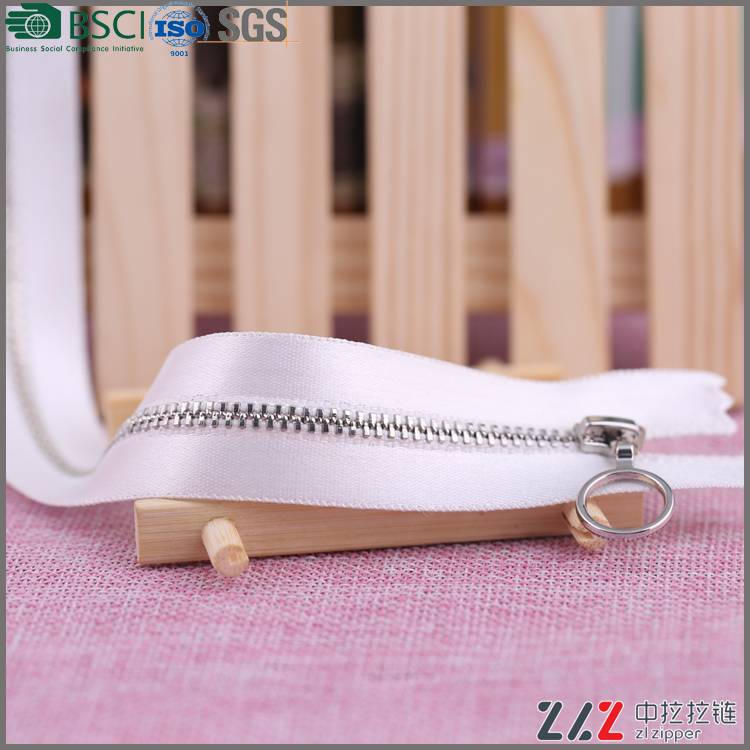 3# Square teeth single/double pull metal zipper,Environmental protection, high quality for shoes zip