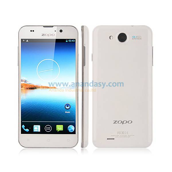 5 inch MTK6589T,Quad Core Android 4.2 WCDMA/ GSM Dual SIM Mobile Phone ZOPO C3