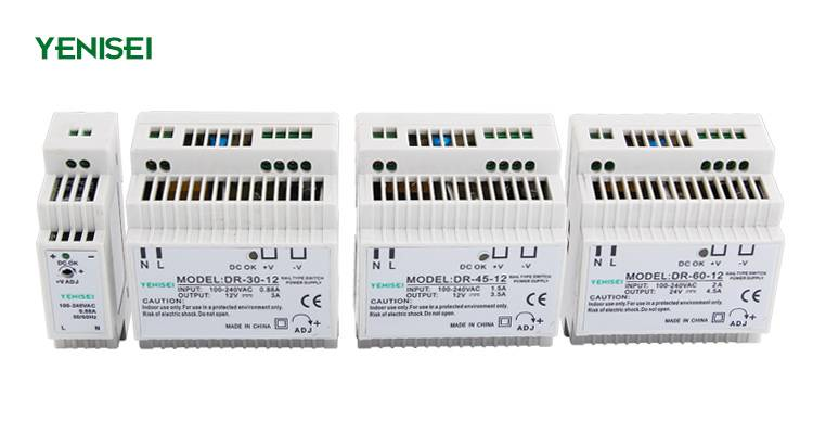 DR-30-5 ac dc varible output 30w 5v din rail switch mode power supply