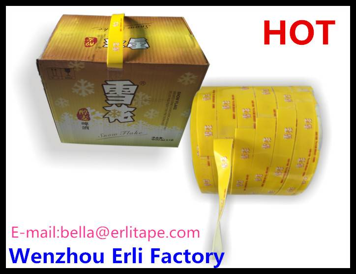 carry handle tape for carton box or beer