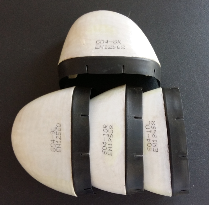 composite toe cap with rubber strip