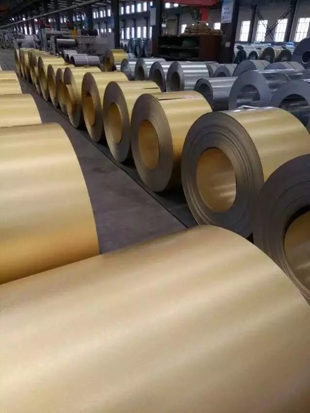 golden color galvalume steel coil