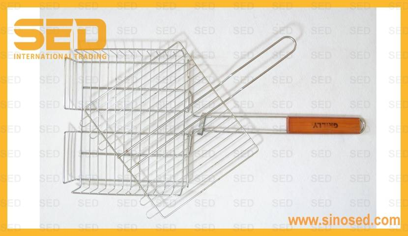 Non-Stick Stainless Steel BBQ Grill Basket