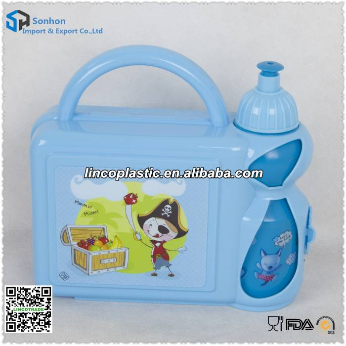 Plastic Lunch Box With Water Bottle Suit
