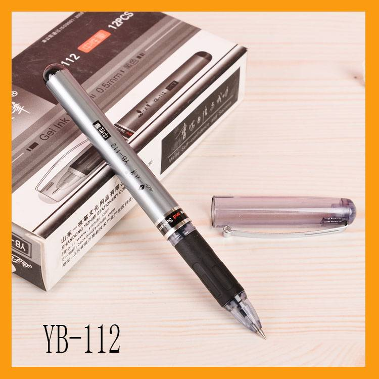 Plastic gel ink pen with cap