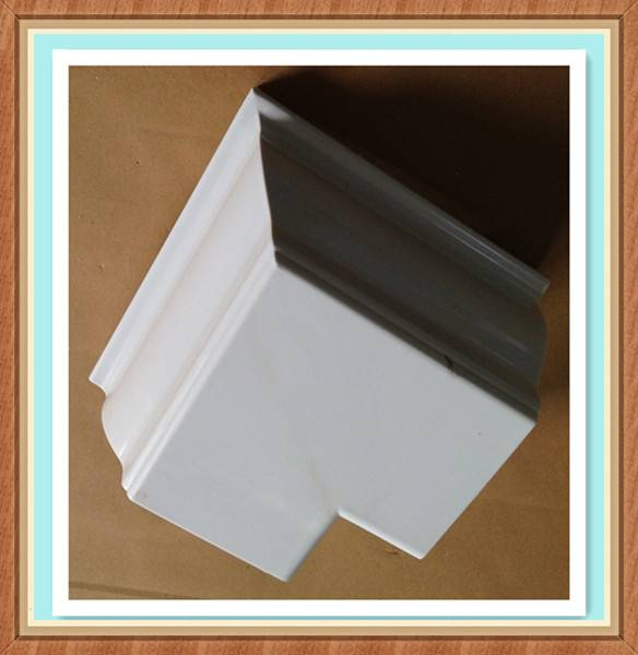 Hot selling good quality custom plastic gutter,roof pvc gutter system outside corner Accessaries