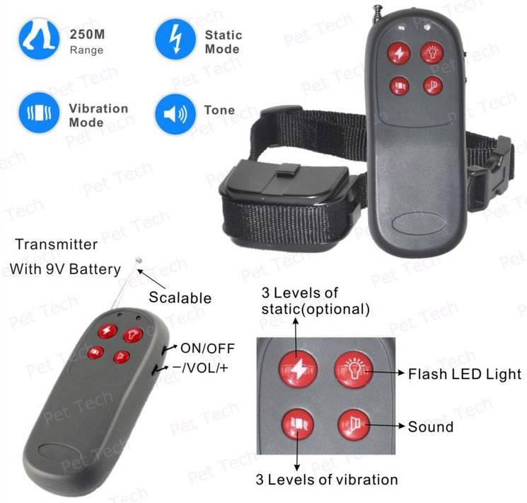 4 in 1 Remote Dog Training Collar (P-998C)