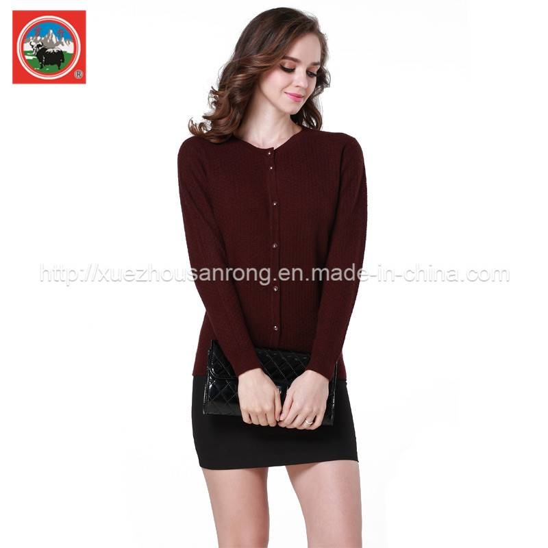 women' knitted yak wool /cashmere knitted cardigan/pullover sweater