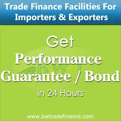 Avail Performance Guarantee / Bond for Importers & Exporters