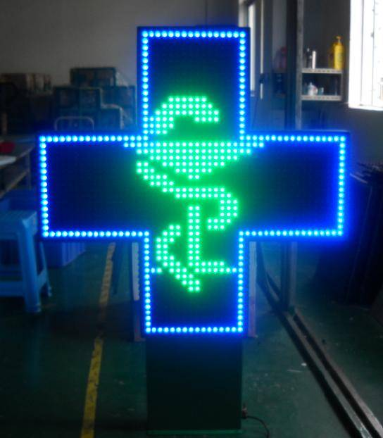 LED Cross Pharmacy With CE Has Blue/Green/Red/RGB Color