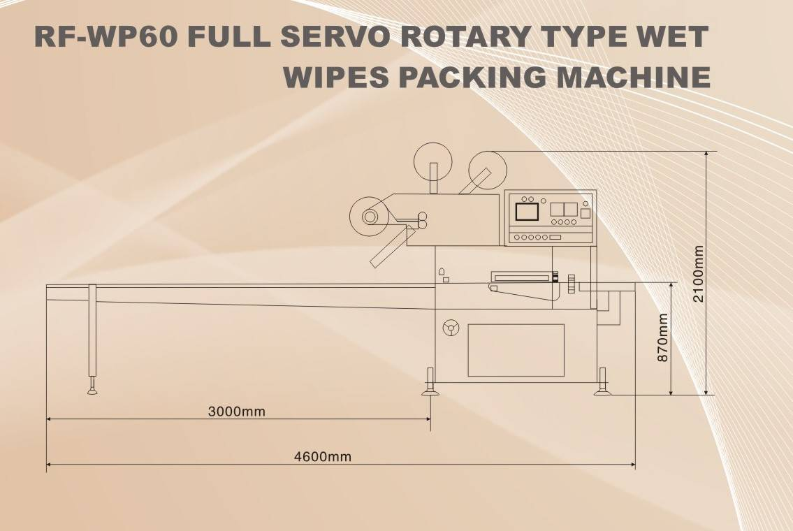 RF-WP60 Full Servo Rotary Type Wet Wipes Packing Machine
